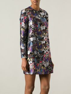 Shop #NewSeason #VALENTINO butterfly embroidered dress from Farfetch