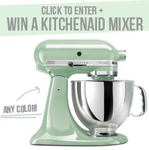 Win A Kitchenaid Mixer! Yes, please! :)