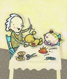 Eefje heeft een beertje. Illustratie: Marjolein Krijger.