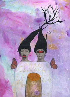 la-dechirure-des-siamoises  collage by Helene deroubaix(2007)