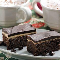 Coffee Cream Brownies   MyRecipes.com