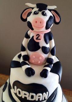 Fondant cow- Del Ray Cakery