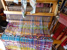 Today I took a sneak peak at my yet to be finished SAORI weaving I have neglected over the last 6 weeks. I have been weaving on it in the last week ...