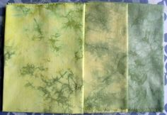 100% Cotton Fabric Parfait Dyed with Procion MX Dyes - Greens