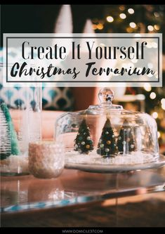 World Market Christmas | DIY Terrarium | Christmas Terrarium Ideas | Christmas tree decor | Vintage Christmas | Eclectic Christmas | #giftthemjoy | #worldmarket | Christmas table decor