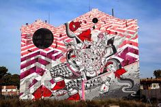 The online magazine for Street Art and Urban Contemporary Art. Daily coverage of everything new in Urban and Street Art. Best Graffiti, Urban Graffiti, Street Art Graffiti, Pintura Graffiti, Graffiti Painting, Graffiti Artists, Urban Street Art, Urban Art, Amazing Street Art