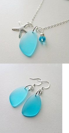 Necklaces and Pendants 110655: Sterling Silver Chain, Sea Glass Necklace, Sea Glass Jewelry, Blue Sea Glass -> BUY IT NOW ONLY: $40.47 on eBay!