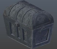Hand-painted chest. This royalty free 3D model or texture is available for download now!  The lowpoly chest with haind-painted texture which is divided i...