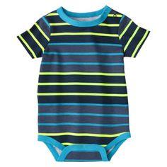 Circo Newborn Boys Stripe Bodysuit - Blue