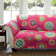Lush Decor Jaipur Ikat Sofa Furniture Protector Slipcover by Lush
