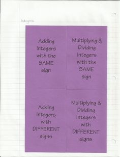 integers foldable - attached to entire geometry notebook