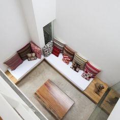 Minimalist home that incorporates nature into the decor.