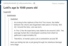 Loki's rebellious teenage years