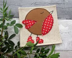Christmas Coaster - Robin Red Breast - Christmas Robin £5.00