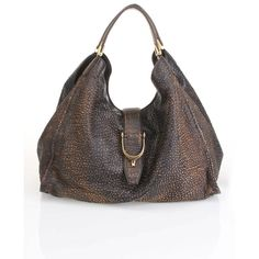 Gucci Soft Stirrup Shoulder Bag In Brown - Beyond the Rack ❤ liked on Polyvore