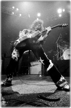 Jimmy Page doing what he was born to do, rock!
