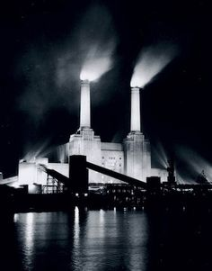 Battersea Power Station, London, 3 January 1956. Daily Herald Archive