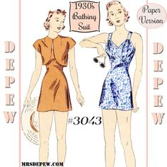 b3f770d785 3043 bathing suit paper version Sewing Stitches