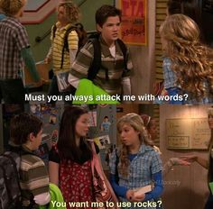 Freddie, Sam, and Carly