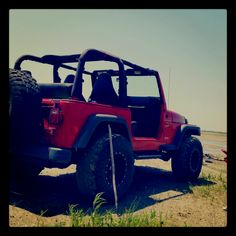 My whole reason for leaving, to someday own a Red Jeep.