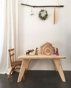 Nicholas has visited us, I am slowly getting our house ready for Christmas. Their little corner Christmas Nativity, Noel Christmas, Scandinavian Nursery, Nature Table, Waldorf Toys, Cozy Place, Baby Boy Rooms, Decoration, Kids Room