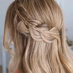 Easy Hairstyles For Long Hair, Braids For Long Hair, Girl Hairstyles, Braided Hairstyles, Straight Wedding Hairstyles, Hair Down Hairstyles, Hairstyle For Women, Halfway Up Hairstyles, Long Hairstyles