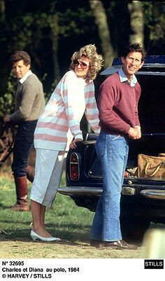 April 29, 1984: Prince Charles and Princess Diana at a polo match in Windsor.