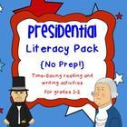 Celebrate President's Day with these Common Core-aligned literacy activities! Just print and use! :)