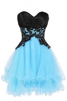 Ellames Sweetheart Cocktail Short Prom Homecoming Party Dresses For Juniors Blue US 6