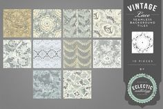 Vintage Lace Seamless Backgrounds by Eclectic Anthology on Creative Market