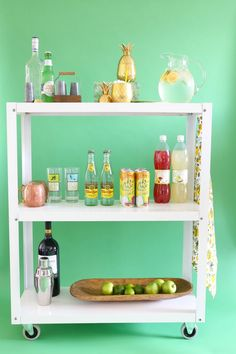 How to make a bar cart - and stock it!
