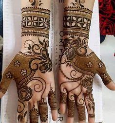 Latest henna/mehndi design ideas for karwa chauth and festive session. Dulhan Mehndi Designs, Mehandi Designs, Karva Chauth Mehndi Designs, Mehendi, Mehndi Designs Book, Mehndi Design Pictures, Unique Mehndi Designs, Beautiful Henna Designs, Latest Mehndi Designs