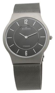 7c74f9b76f Skagen Denmark Mens Watch Grey Titanium Mesh Men s Watch  233LTTM Titanium  Watches