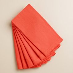 One of my favorite discoveries at WorldMarket.com: Coral Buffet Napkins Set of 6