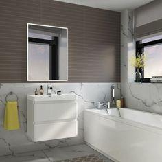 500 x 700 mm Illuminated LED Bathroom Mirror With Light Vanity Light Sensor + Demister Bathroom Mirrors LED Mirror