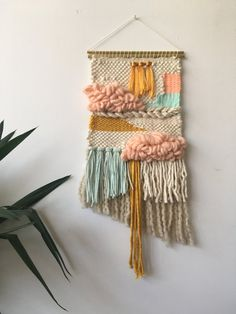 Weaving by Maryanne Moodie  16 x 27  Made from vintage and hand spun fibres.