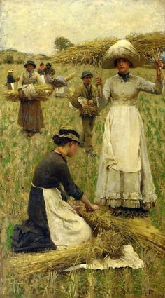 Clausen, George, (1852-1944), Gleaners