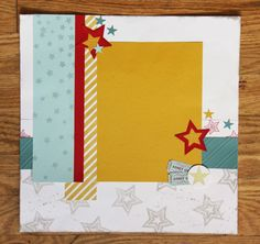 Be A Star Scrapbook Layout from class.   Visit my site for more information on page kits.www.stampwithsarahs.com