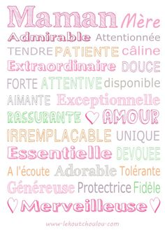 It is not me who did it-C'est (PAS) moi qui l'ai fait Mom painting - Mother Poems, Mothers Day Poems, Mothers Day Crafts, Mother And Father, Fathers Day, Graphic Design Fonts, Happy Mom, Mom Quotes, Some Words