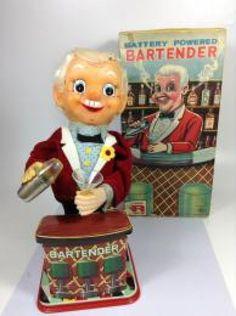 RARE Bartender 1950s Nomura Toy Vintage Working Retro Showa Japan 88 #NOMURA