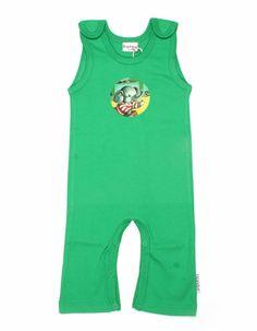 Groene salopet met olifantenprint - Baba Babywear