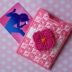 """Plastic Canvas: """"Spring Bloom"""" Gift Card Holder by ReadySetSewbyEvie on Etsy"""