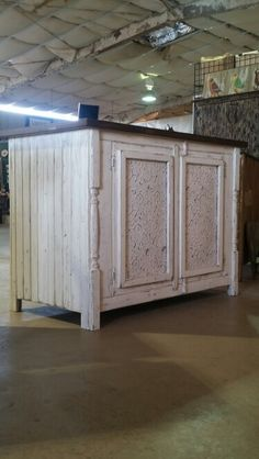 Kitchen Island made by Big Fish Trading Co in Foley AL .   #custombuild#custompaint