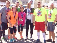 For Katherine, happiness was getting a group of coworkers ready to run Cleveland Half Marathon! #THshareHappiness