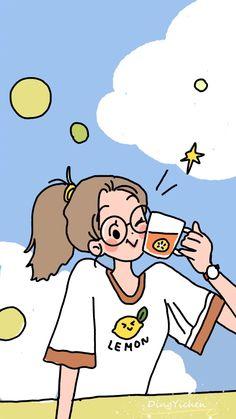 Cute Pastel Wallpaper, Soft Wallpaper, Kawaii Wallpaper, Cartoon Girl Drawing, Girl Cartoon, Kawaii Drawings, Cute Drawings, Cover Wattpad, Cartoon Art Styles