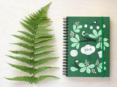 Week calendar Design by Polkka Jam. Made by Putinki. Weekly Calendar, Calendar Design, Interior Plants, Helsinki, Design Art, Plant Leaves, Birds, Paper, Holiday