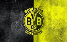 Herunterladen hintergrundbild borussia dortmund, football club, soccer, grunge, bundesliga, bvb 09