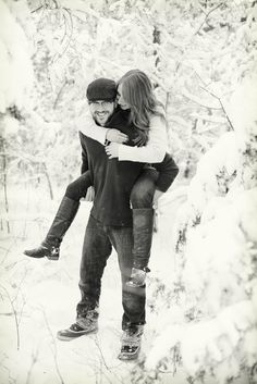 Pretty (snowy) Wisconsin engagement session...