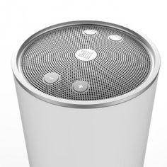 Speaker, aluminium, mesh, button