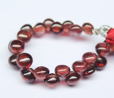 Natural Red Garnet Smooth Onion Drops Briolette Beads – Jewels Exports